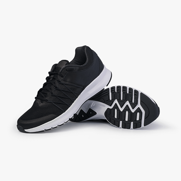 Black Knitted Trainers